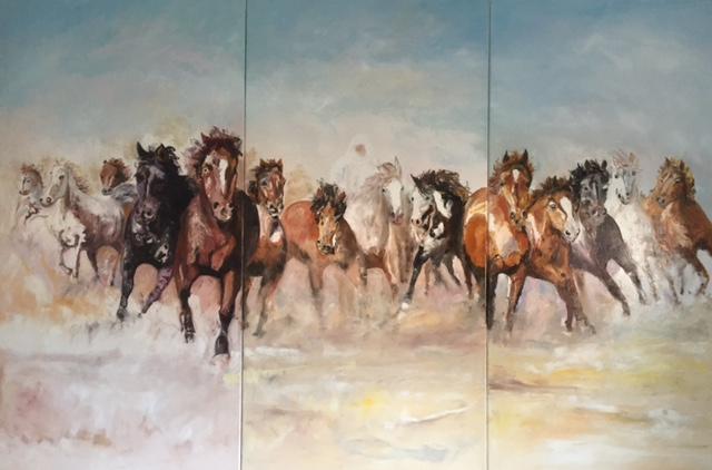 Huile sur toile,140 x 210